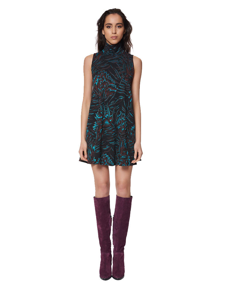 Mara Hoffman Herbarium Swing Dress in Teal Multi - SWANK - Dresses - 1