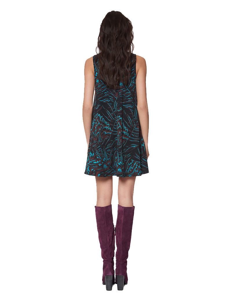 Mara Hoffman Herbarium Swing Dress in Teal Multi - SWANK - Dresses - 2