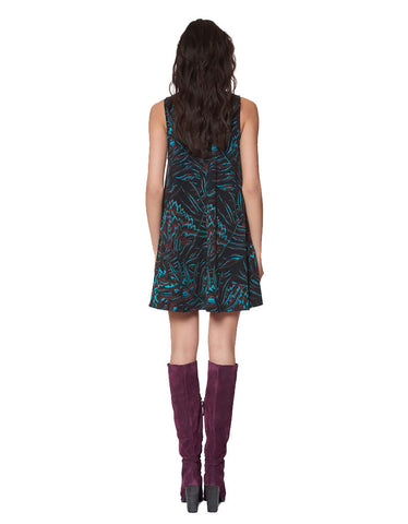 Mara Hoffman Herbarium Swing Dress in Teal Multi