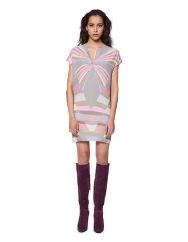 Mara Hoffman Prism Tunic Crepe Dress in Lavender