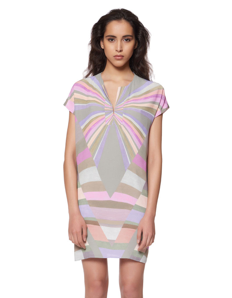 Mara Hoffman Prism Tunic Crepe Dress in Lavender - SWANK - Dresses - 2