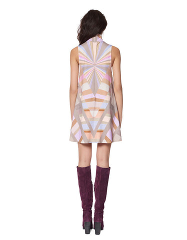 Mara Hoffman Prism Turtleneck Swing Dress in Lavender