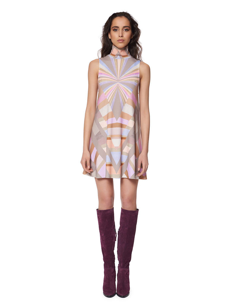 Mara Hoffman Prism Turtleneck Swing Dress in Lavender - SWANK - Dresses - 1