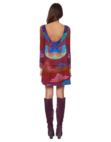 Mara Hoffman Radial Swing Mini Dress in Raspberry
