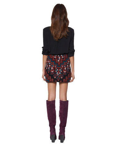 Mara Hoffman Knit Mini Skirt in Burgundy