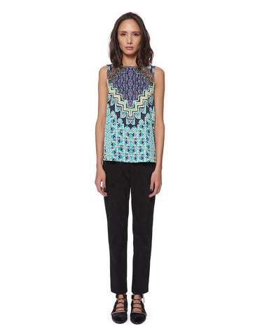 Mara Hoffman Tencel Tank Top in Turquoise