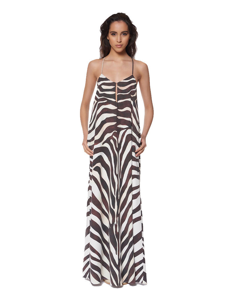 Mara Hoffman Zebra Maxi Dress - SWANK - Dresses - 1