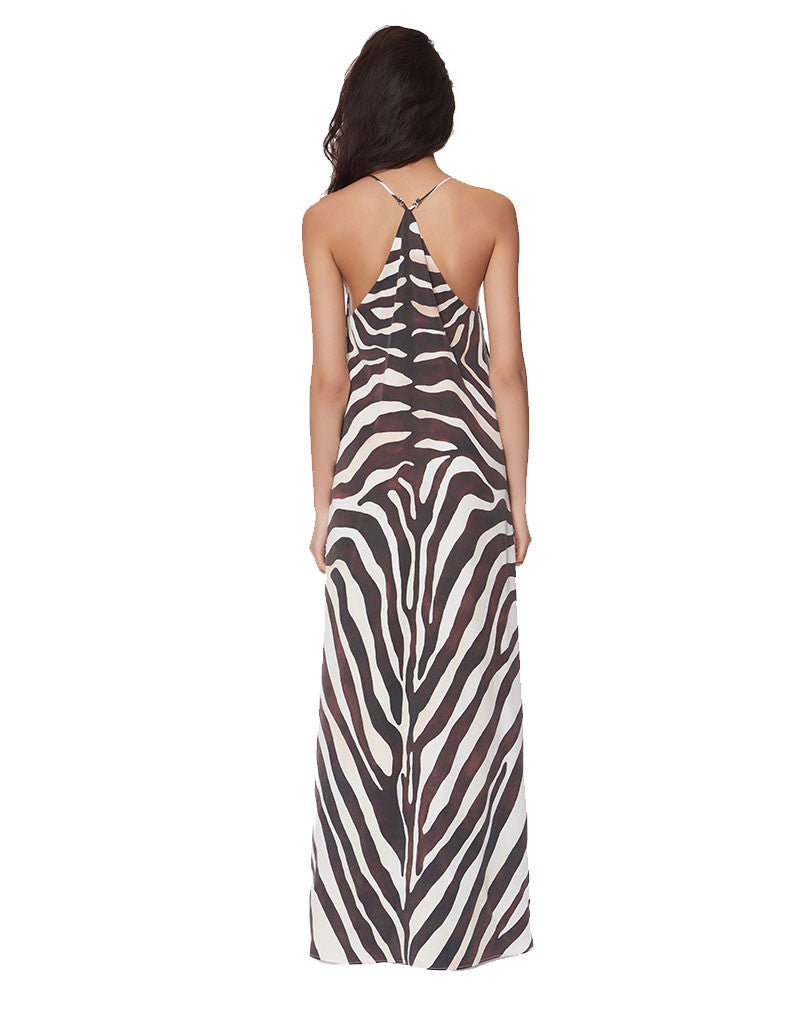 Mara Hoffman Zebra Maxi Dress - SWANK - Dresses - 2