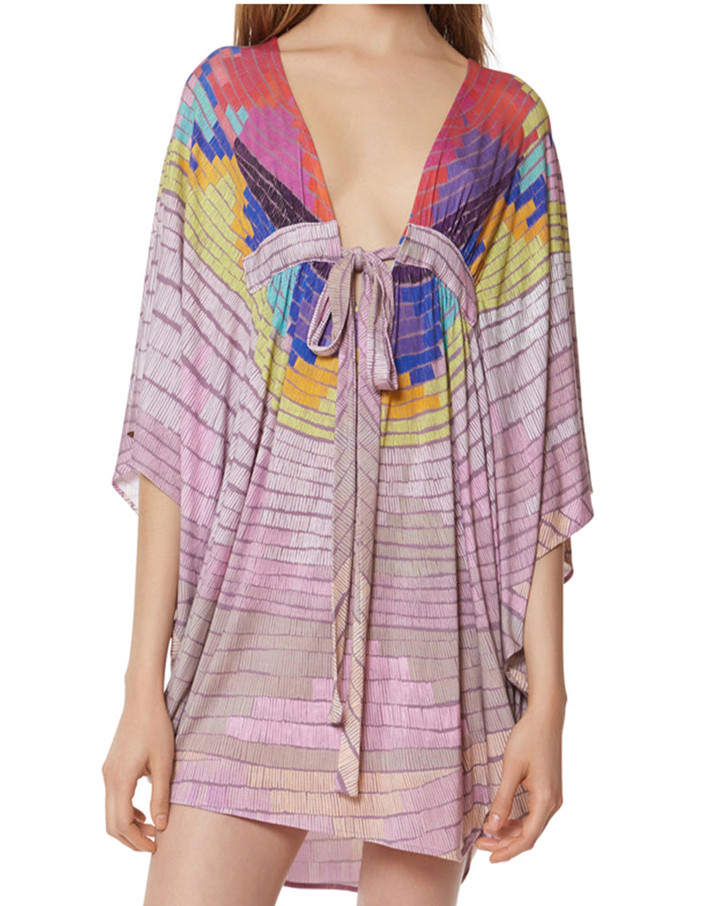 Mara Hoffman Radial Modal Poncho Dress in Lavender Gray - SWANK - Swimwear - 2