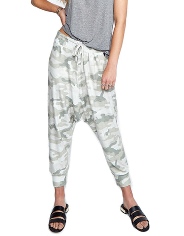 Michael Lauren Matteo Drop Crotch Pant in Green Camo