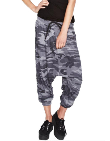 Michael Lauren Matteo Drop Crotch Pant in Asphalt Camo