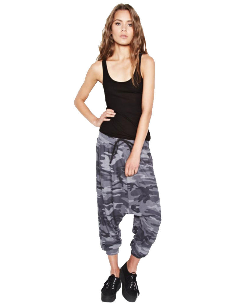 Michael Lauren Matteo Drop Crotch Pant in Asphalt Camo - SWANK - Pants - 1