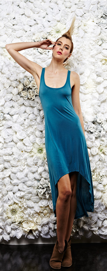 Michael Lauren Mac Dress in Teal Blue - SWANK - Dresses
