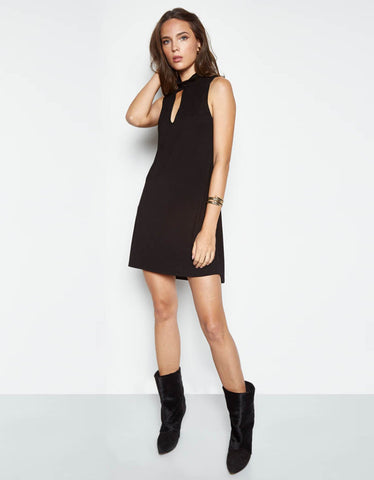 Michael Lauren Atticus Tank Keyhole Dress in Black