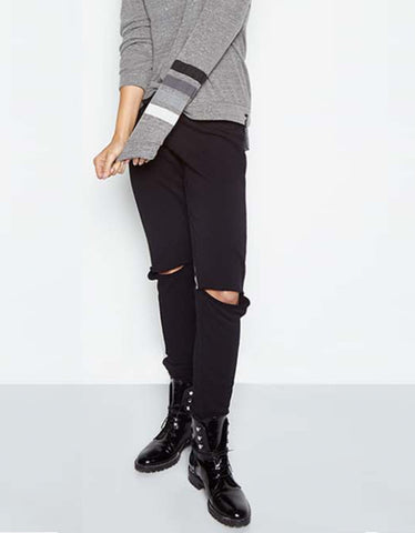 Michael Lauren Kobe V-Neck Henley w/Tail in Primrose