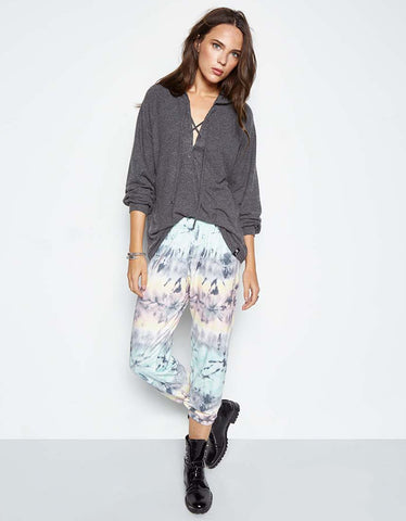 Michael Lauren Nate Crop Sweatpant in Caribbean