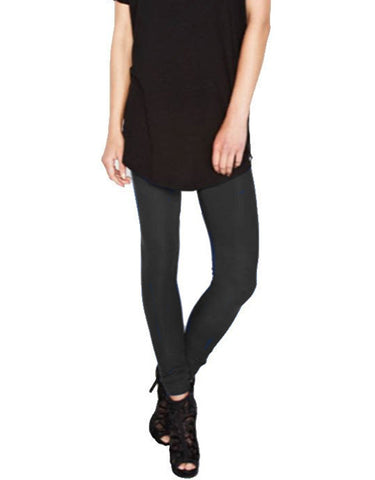 Michael Lauren Vic Rib Legging in Caviar and Seaport