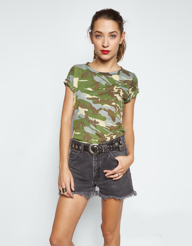Michael Lauren Cliff Classic Tee in Vintage Camo