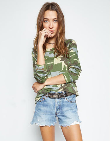Michael Lauren Kenny Light Pullover in Vintage Camo