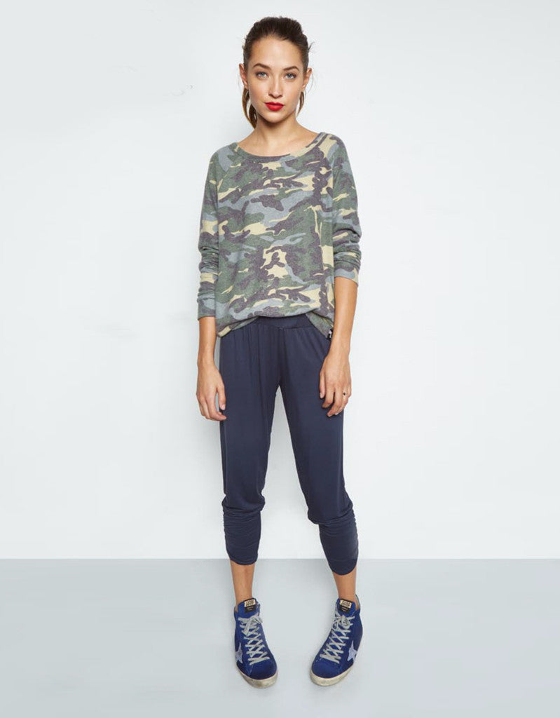Michael Lauren Kenny Soft Pullover in Vintage Camo