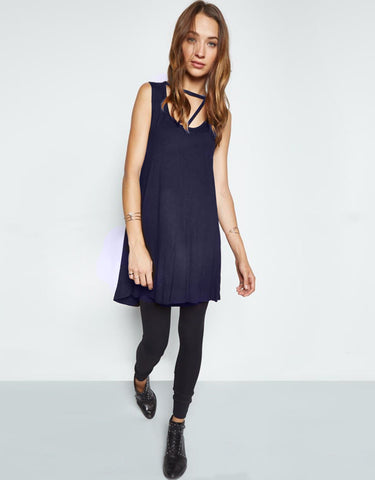 Michael Lauren Mackay Cut Out Tunic in Ashnight