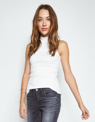 Michael Lauren Nixon Mock Neck Tank in White
