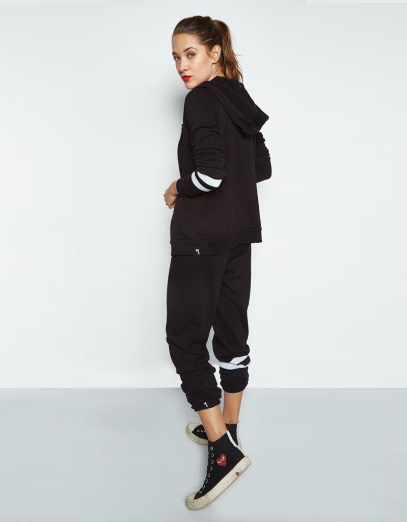Michael Lauren Paris Fitted Zip Up Hoodie