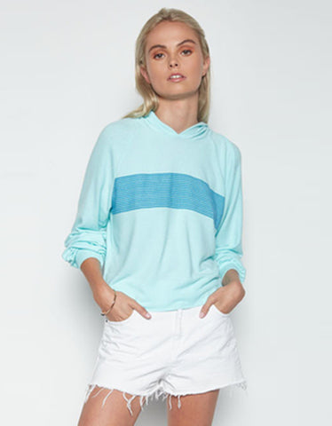 Michael Lauren Delaney Cropped Pullover in Mint