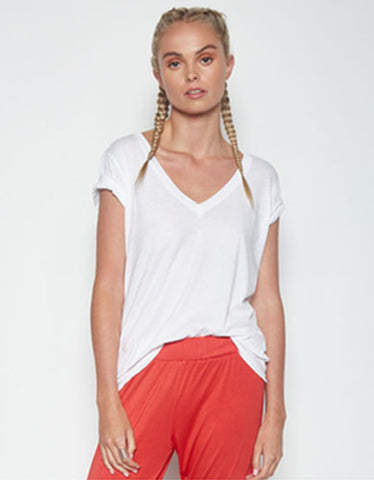Michael Lauren Layton V-Neck Tee w/Side Slit