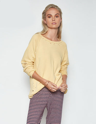 Michael Lauren Oswald Vintage Pullover in Light Honey