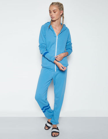 Michael Lauren Plato Sweatpant w/Stripe in Chill Out