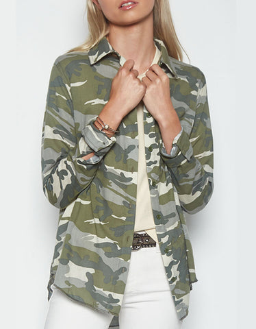 Michael Lauren Santino L/S Button Down Shirt in Camo
