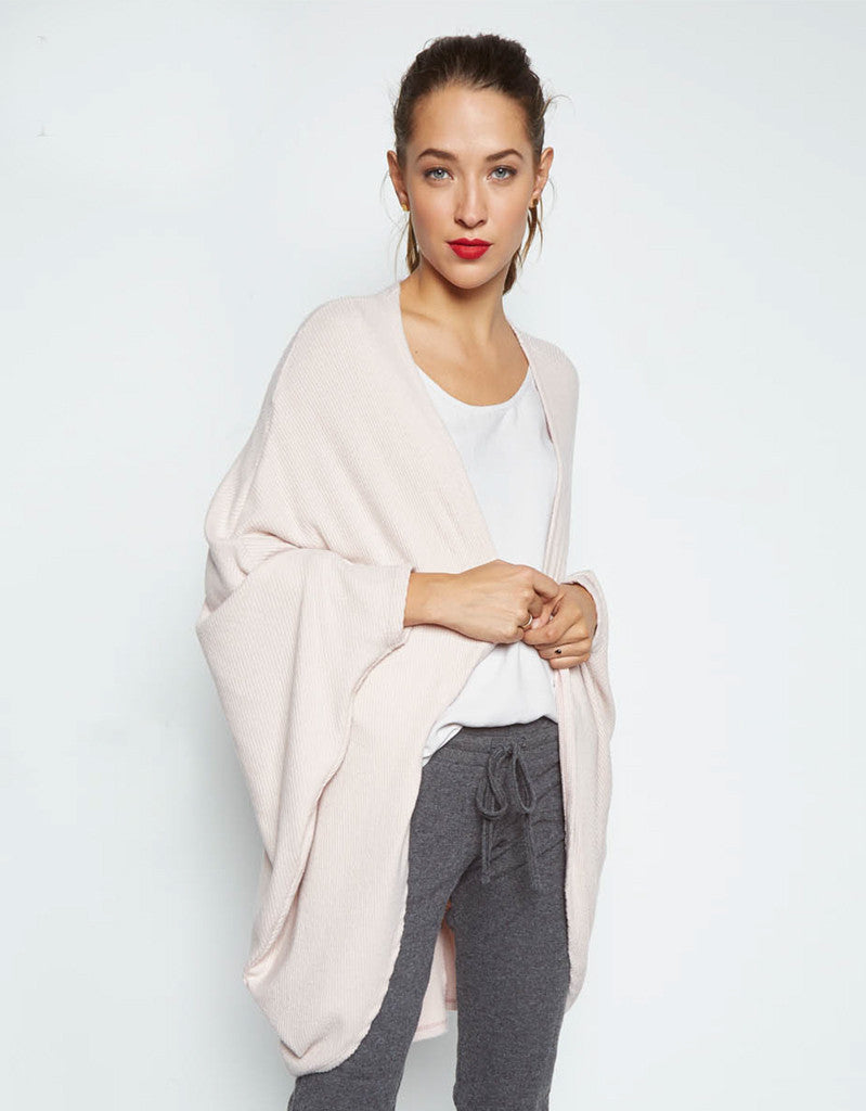 Michael Lauren Easton Cardigan in Blush - SWANK - Tops - 1
