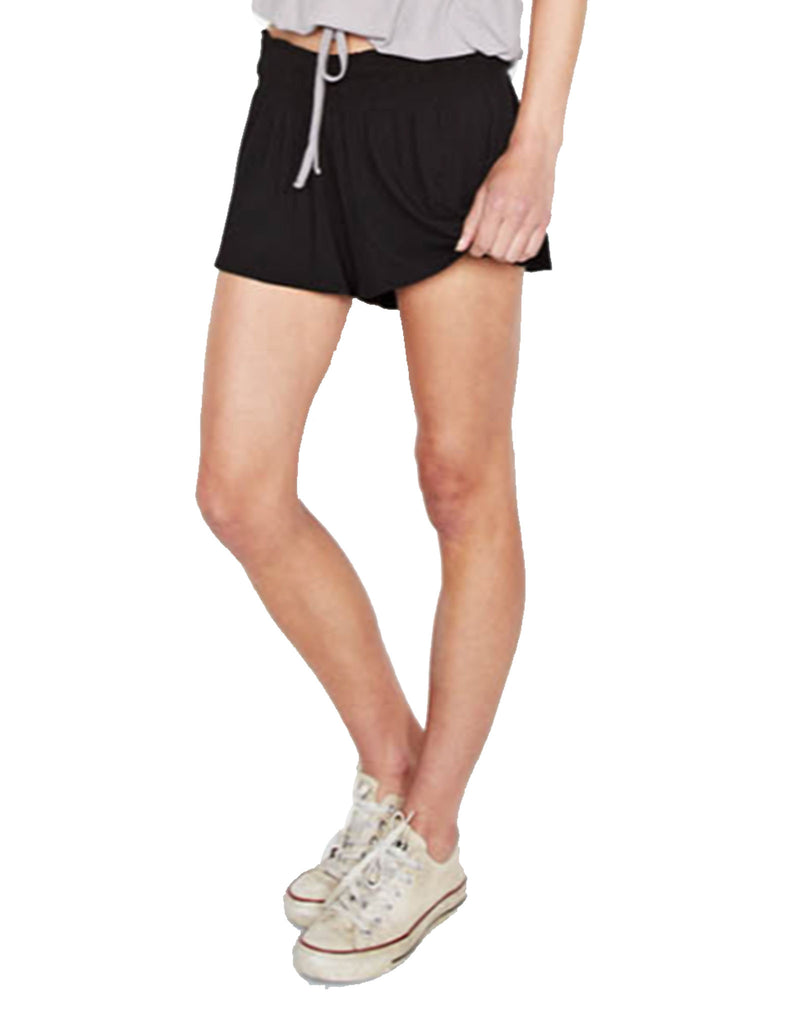 Michael Lauren Fox Smocked Short in Black - SWANK - Shorts - 5