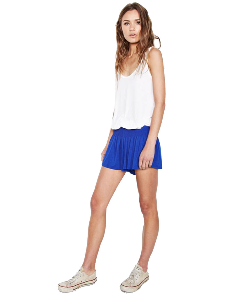 Michael Lauren Fox Smocked Short in Moonstone - SWANK - Shorts - 1
