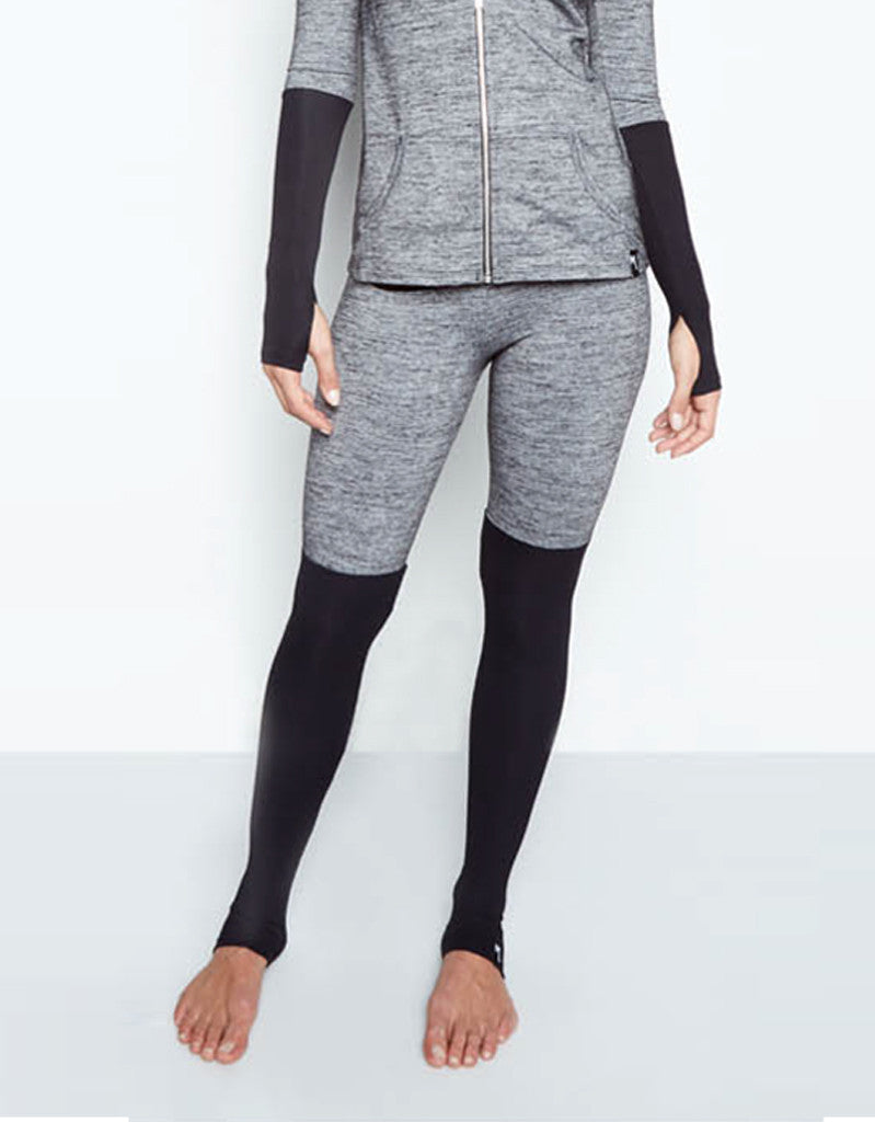 Michael Lauren Jensen Contrast Legging in Stone/Black - SWANK - Pants - 3