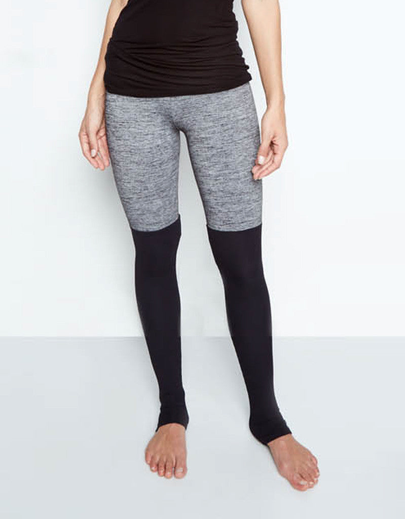 Michael Lauren Jensen Contrast Legging in Stone/Black - SWANK - Pants - 1