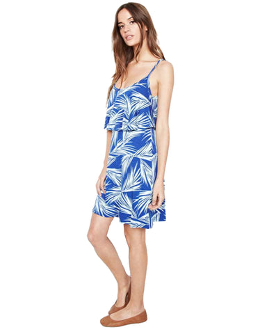 Michael Lauren Marlow Fiesta Mini Dress in Royal Palm Tree