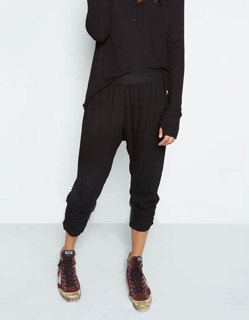 Michael Lauren Pablo Pant w/Shirring in Black - SWANK - Pants - 1