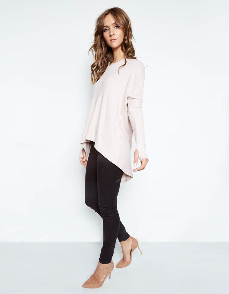 Michael Lauren Spencer Pullover w/Back Slit in Blush - SWANK - Tops - 3