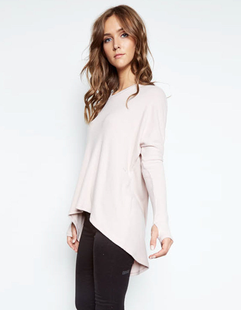 Michael Lauren Spencer Pullover w/Back Slit in Blush - SWANK - Tops - 1