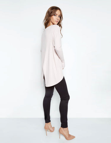 Michael Lauren Spencer Pullover w/Back Slit in Blush