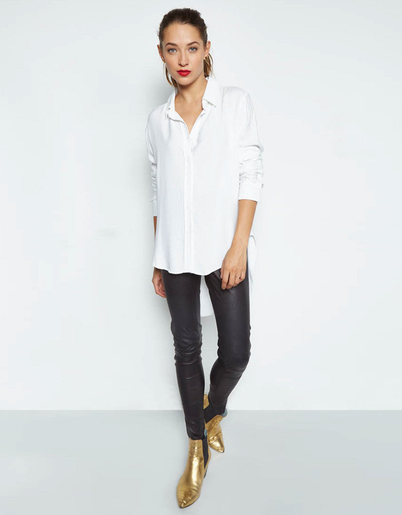 Michael Lauren Tomas Button Shirt w/Tail in White - SWANK - Tops - 2