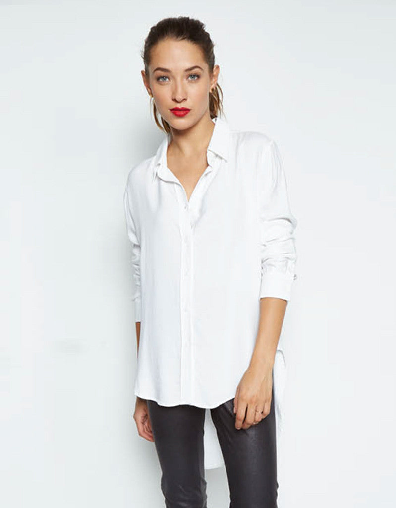 Michael Lauren Tomas Button Shirt w/Tail in White - SWANK - Tops - 1