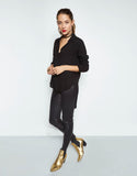 Michael Lauren Tomas Button Shirt w/Tail in Black - SWANK - Tops - 2
