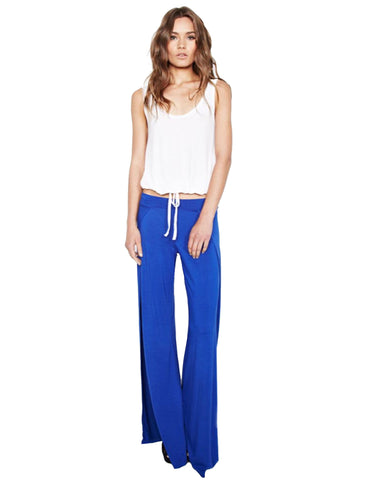 Michael Lauren Troy Wide Leg Pant in Moonstone