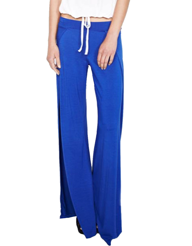 Michael Lauren Troy Wide Leg Pant in Moonstone - SWANK - Pants - 3