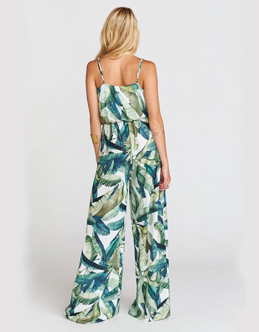 Show Me Your Mumu The Jagger Jumpsuit in Banana Leaf