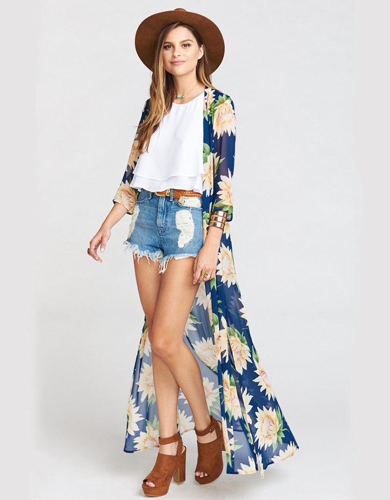 Show Me Your Mumu Karmyn Cape in Sunflower Dreams