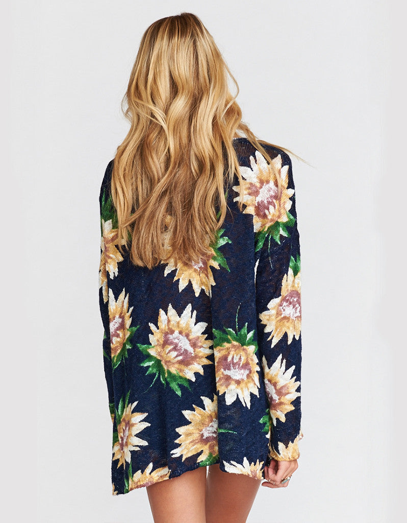 Show Me Your Mumu Overtop Sweater in Sunflower Dreams